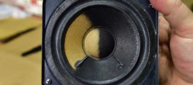 How do you fix speaker cone damage?